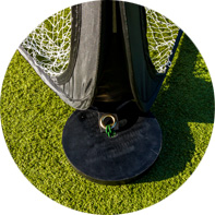 Use the Circular Soccer TriGoal™ on Astro Turf